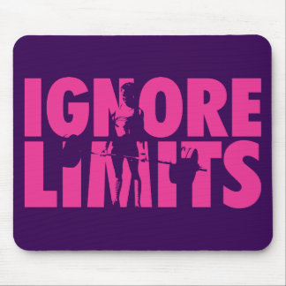 IGNORE LIMITS - Women's Weightlifting Motivational Mouse Pad