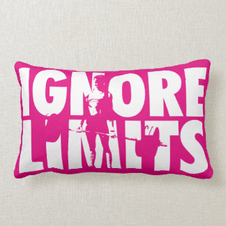 IGNORE LIMITS - Women's Weightlifting Motivational Pillow