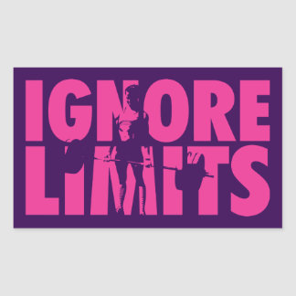 IGNORE LIMITS - Women's Weightlifting Motivational Rectangular Sticker