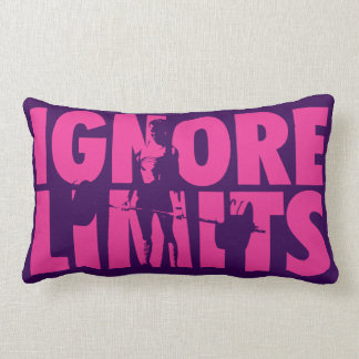 IGNORE LIMITS - Women's Weightlifting Motivational Throw Pillow
