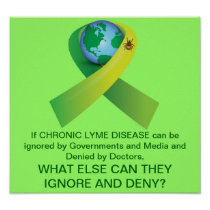 Ignoring and Denying Chronic Lyme Disease Epidemic Poster