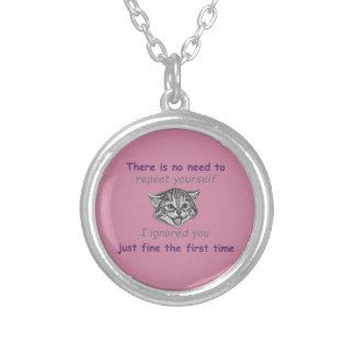 Ignoring You Silver Plated Necklace