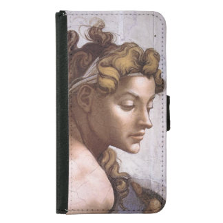 Ignudi female Fresco Sistine Chapel Michelangelo Wallet Phone Case For Samsung Galaxy S5