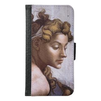 Ignudi female Fresco Sistine Chapel Michelangelo Wallet Phone Case For Samsung Galaxy S6