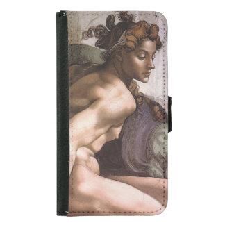 Ignudi female Sistine Chapel Michelangelo Wallet Phone Case For Samsung Galaxy S5