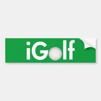 iGolf (ball) Bumper Sticker