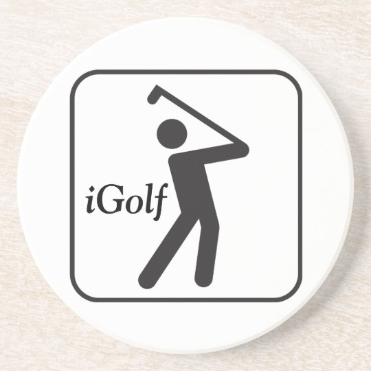 iGolf Sandstone Coaster