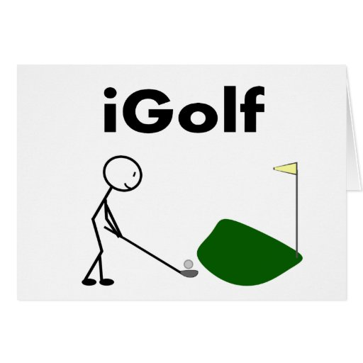 iGOLF stick person Greeting Card