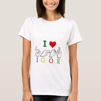 IGOR  NAME ASL FINGERSPELLED SIGN T-Shirt