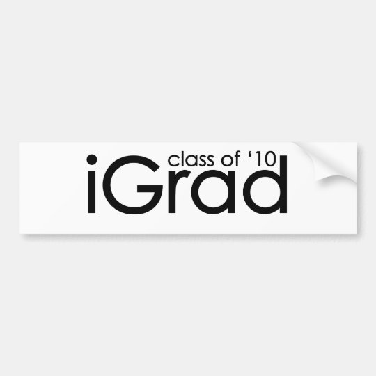 iGrad 2010 Graduate Bumper Sticker