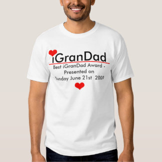 iGranDad - Customized With Red Hearts and Line T-shirt