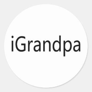 iGrandpa Classic Round Sticker