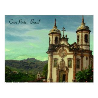 Igreja São Francisco de Assis, Ouro Preto, Brazil Postcard