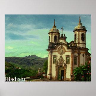 Igreja São Francisco de Assis, Ouro Preto, el Bras Posters
