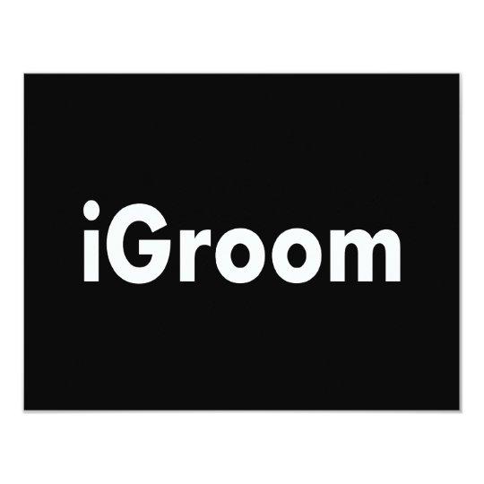 """iGroom Invitación 4.25"""" X 5.5"""""""