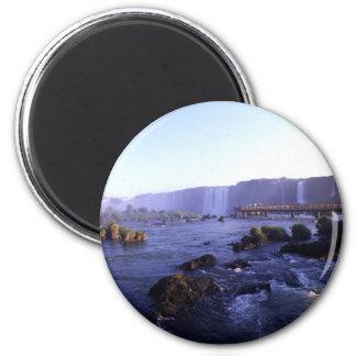 Iguacu Falls Brazil and Argentina 2 Inch Round Magnet
