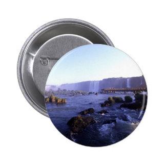 Iguacu Falls Brazil and Argentina Button