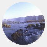Iguacu Falls Brazil and Argentina Classic Round Sticker