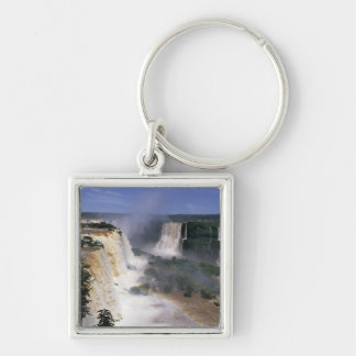 Iguacu Falls, Brazil Silver-Colored Square Keychain