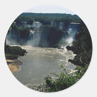 Iguacu Falls, Brazil Round Stickers