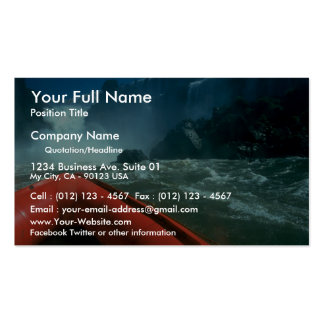 Iguacu Falls from below, Iguacu River, Brazil Double-Sided Standard Business Cards (Pack Of 100)