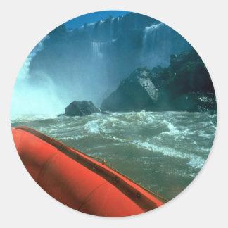 Iguacu Falls from below, Iguacu River, Brazil Stickers