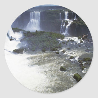 Iguacu Falls from the air, border of Argentina and Stickers