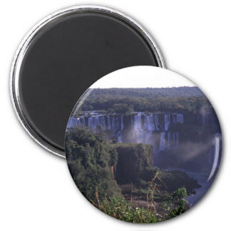 Iguacu Falls in Brazil and Argentina 2 Inch Round Magnet