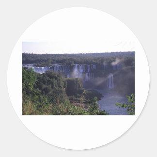 Iguacu Falls in Brazil and Argentina Round Sticker