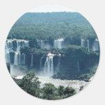 Iguacu Falls, Parana, Brazil Round Sticker