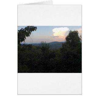 Igualación de la gran montaña ahumada Vista Tarjeta De Felicitación