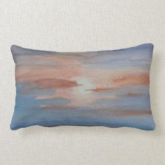 igualación de puesta del sol de la playa de la caí almohada