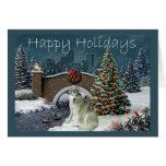 Igualación del navidad del husky siberiano tarjetón