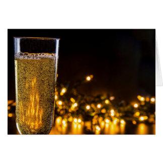 Igualación del vino espumoso tarjeta de felicitación
