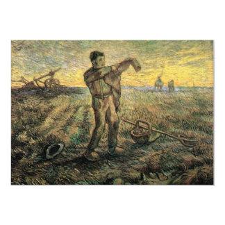 Igualación: El final del día de Van Gogh Invitación 12,7 X 17,8 Cm