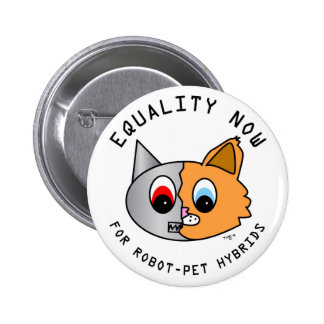 Igualdad ahora para los híbridos del Robot-Mascota Pin