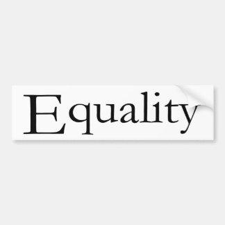 Igualdad Pegatina Para Auto