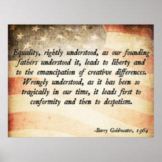 Igualdad de Goldwater Posters