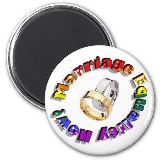 ¡Igualdad de la boda ahora! Imán Redondo 5 Cm