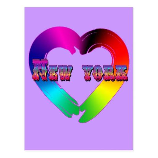 Igualdad de la boda en el diseño de Nueva York GBL Tarjeta Postal