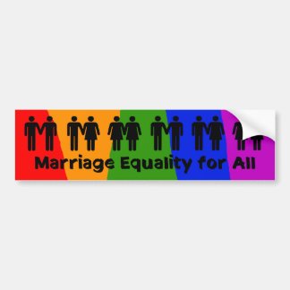 Igualdad de la boda para toda la pegatina para el  pegatina de parachoque