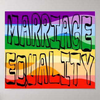 Igualdad de la boda póster