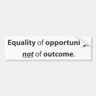Igualdad de oportunidad pegatina para auto