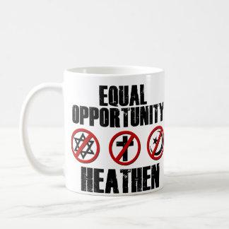 Igualdad de oportunidades pagana taza