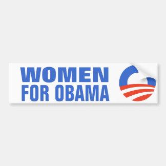 Igualdad de salario de las mujeres para Obama 2012 Pegatina De Parachoque
