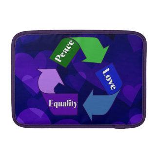 Igualdad del amor de la paz funda macbook air