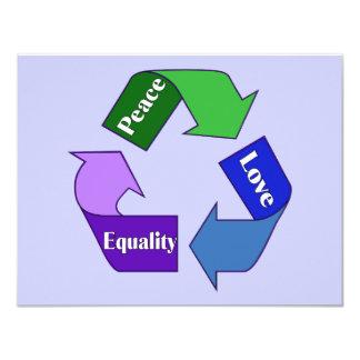 Igualdad del amor de la paz comunicados personales