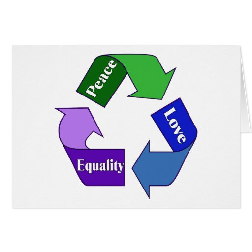 Igualdad del amor de la paz tarjeton