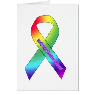 Igualdad del arco iris tarjeta de felicitación