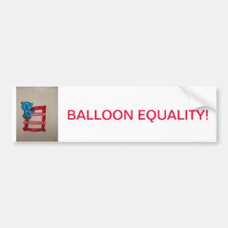 ¡Igualdad del globo! Pegatina Para Auto